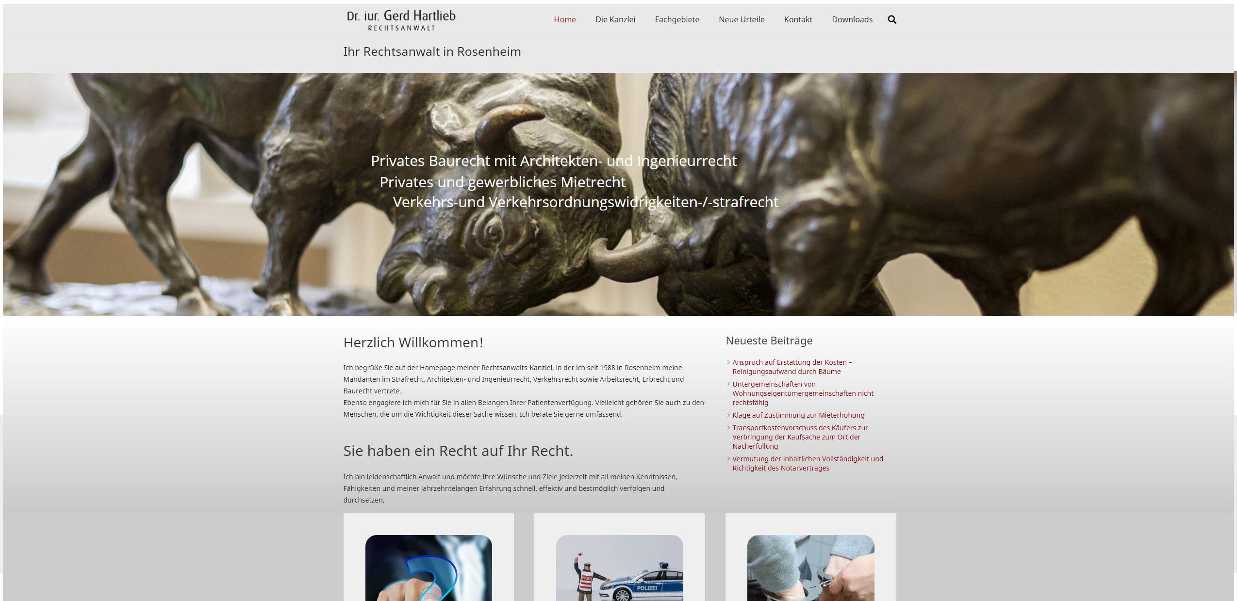 Internetseite für Anwaltskanzlei