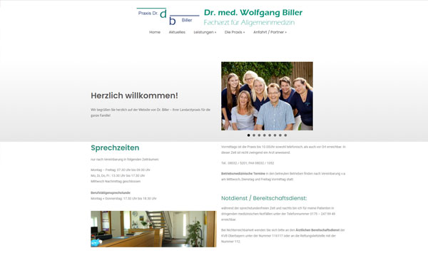 Praxis webseite erstellen lassen agentur rosenheim und aschau