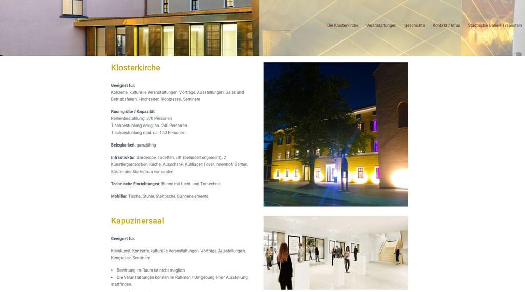 kulturforum klosterkirche traunstein homepage erstellt von toko-media