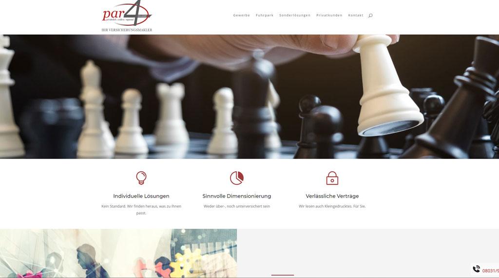 Agentur für webdesign Rosenheim Homepage für Versicherungsmakler