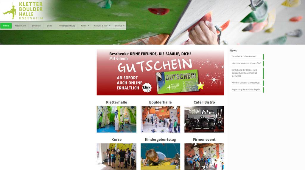 Homepage Kletterhalle Rosenheim